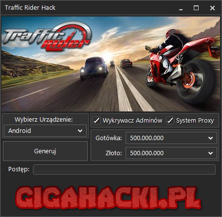 traffic rider hack na złoto